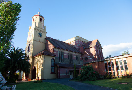 St. John Anglican church, one of many in Launceston.