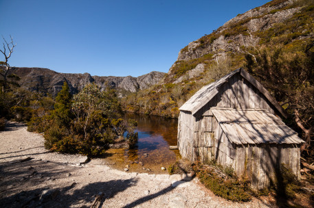 Old boat shed at Crater Lake