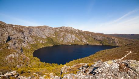 Blick zurück auf Crater Lake