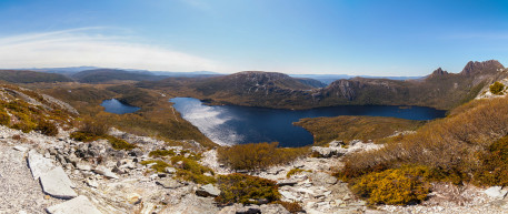 Lake Lila, Dove Lake and Cradle Mountain from Marion's lookout