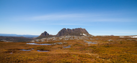 The rugged, distinctive shape of Cradle Mountain