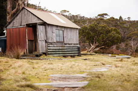 The old Waterfall Valley hut