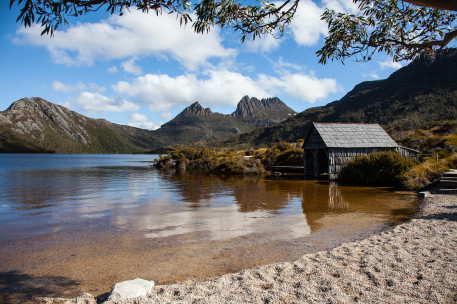 Old boat shed at Dove Lake