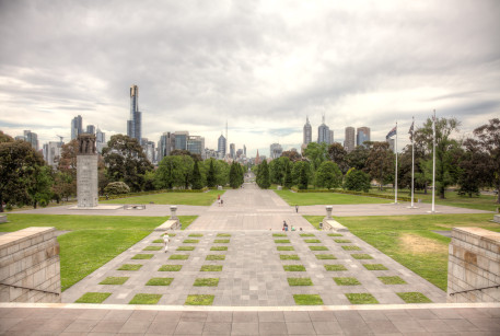 CBD from the Shrine of Remembrance