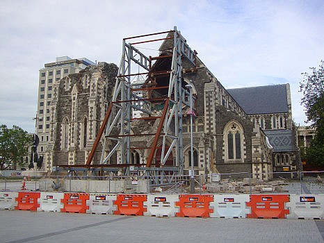Ruin of the Anglican Cathedral of Christchurch